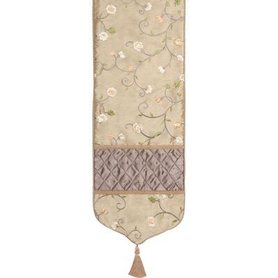 Addison 12.5 X 72 Table Runner With Tassels  Cord  Braid