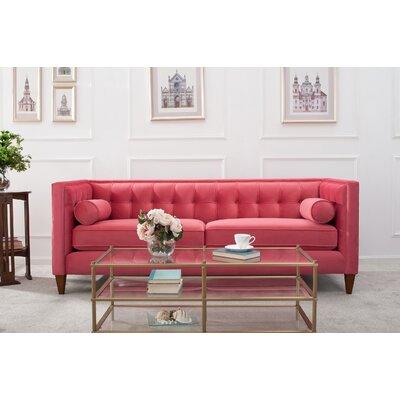 Derrill Tuxedo Sofa Upholstery: Garnet Rose