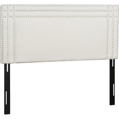 Shea Upholstered Panel Headboard Size: Queen
