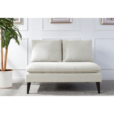 Amesbury Upholstered Settee Upholstery: Sky Neutral