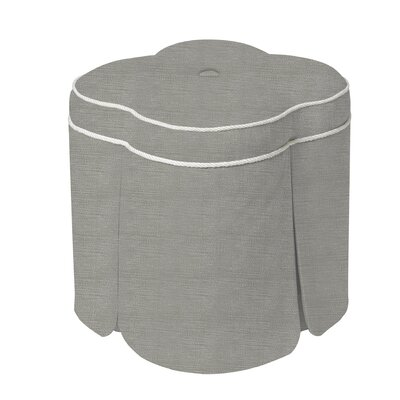 Huston Solid Simplistic Ottoman Upholstery: Silver Gray