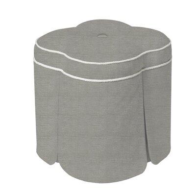 Huston Ottoman Upholstery: Silver Gray