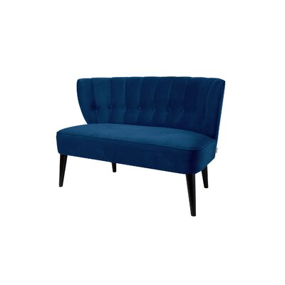 Saito Tufted Settee Upholstery: Navy Blue