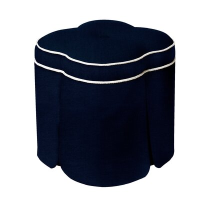 Huston Solid Simplistic Ottoman Upholstery: Midnight Blue