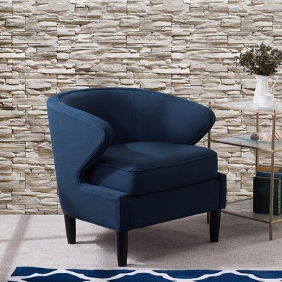Altizer Barrel Chair Upholstery: Midnight Blue