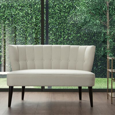 Saito Tufted Settee Upholstery: Sky Neutral