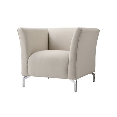 Talbott Club Chair Upholstery: Light Gray