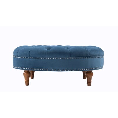 Stephen Cocktail Ottoman Upholstery: Satin Teal