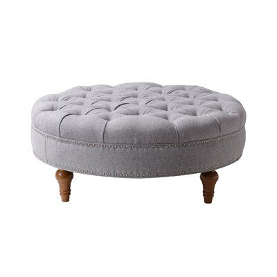 Stephen Cocktail Ottoman Upholstery: Light Gray