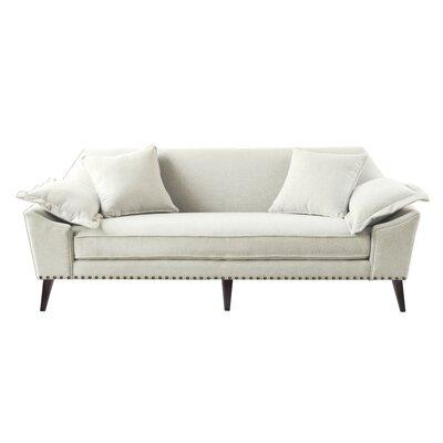 Itzel Tuxedo Sofa Upholstery: Bone White