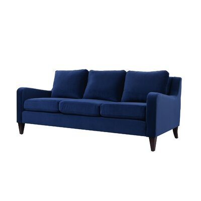 Weybossett Sofa with Cushions Upholstery: Navy Blue