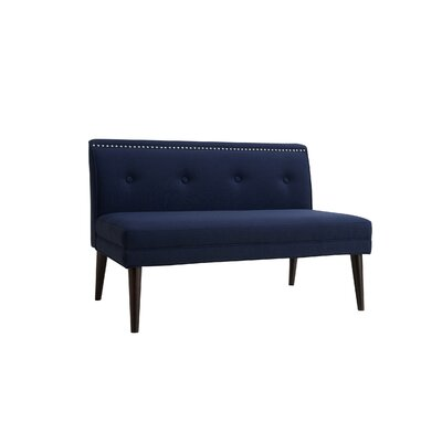 Rolston Accent Settee Upholstery: Midnight Blue