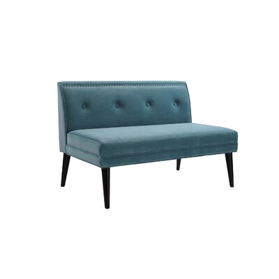 Rolston Accent Settee Upholstery: Arctic Blue