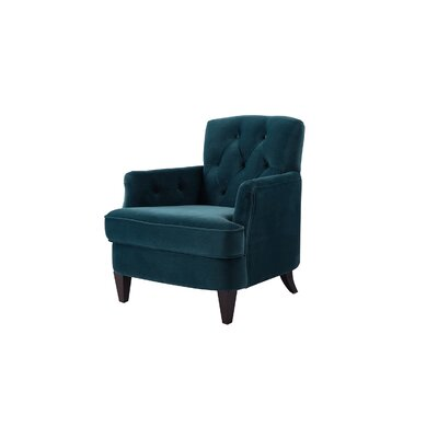 Verdia Tufted Accent Armchair Upholstery: Satin Teal