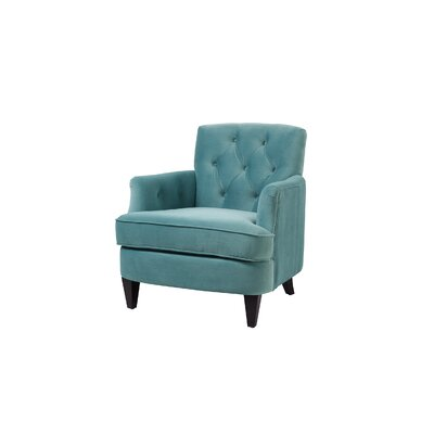 Verdia Tufted Accent Armchair Upholstery: Arctic Blue