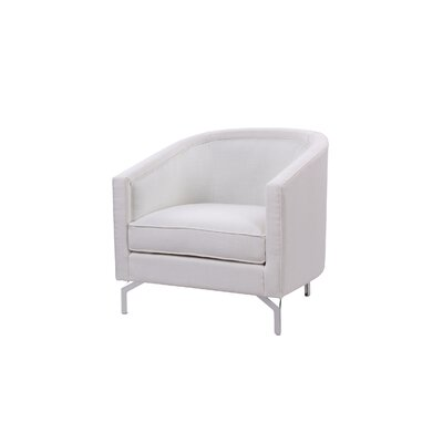 Felicia�Barrel Chair Upholstery: Antique White