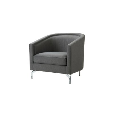 Felicia�Barrel Chair Upholstery: Steeple Gray