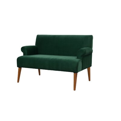 Satchell Roll Arm Settee Upholstery: Evergreen