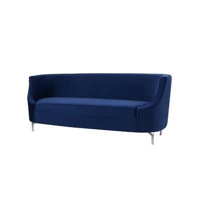 Florentina Upholstered Sofa Upholstery: Navy Blue
