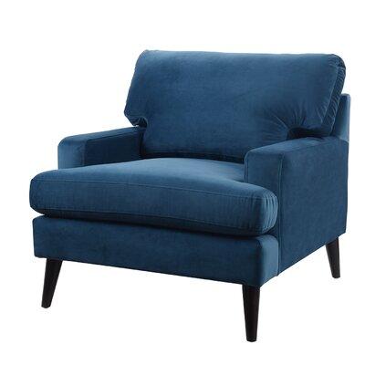 Aryanna Armchair Upholstery: Satin Teal