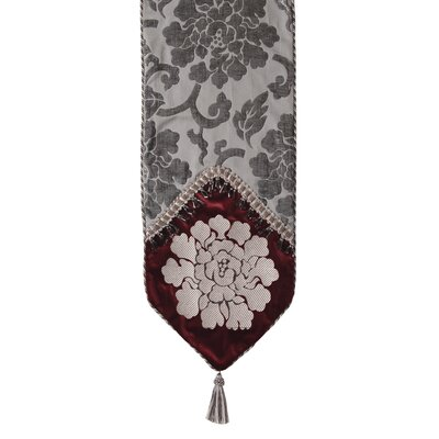 La Rose Table Runner With Braid And Tassel Trim