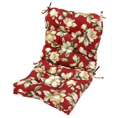 Greendale Home Fashions High Back Chair Cushion - Fabric: Summerside Green