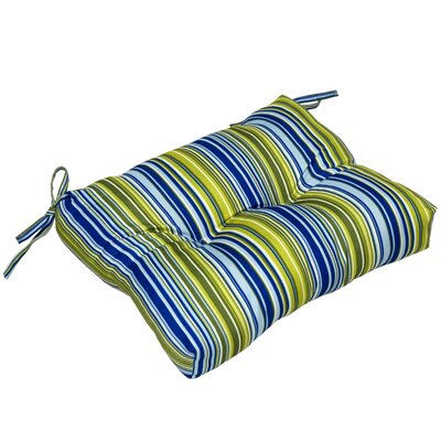 Vivid Stripe Outdoor Dining Chair Cushion