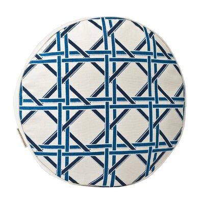Cane Cotton Canvas Throw Pillow Color: Blue