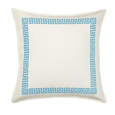 Greek Key Cotton Canvas Throw Pillow Color: Light Blue