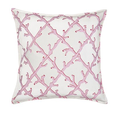 Lattice Cotton Canvas Throw Pillow Color: Pink