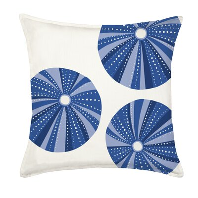Sea Urchin Repeat Cotton Canvas Throw Pillow