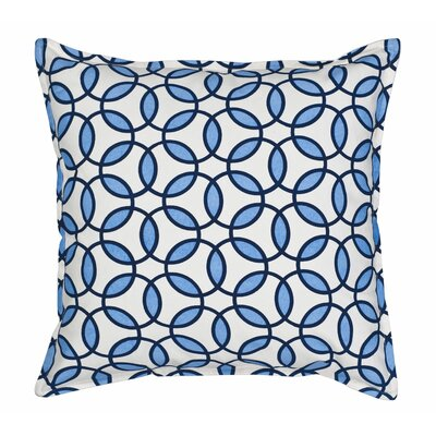 Rings Cotton Canvas Throw Pillow Color: Blue