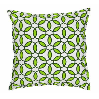 Rings Cotton Canvas Throw Pillow Color: Green