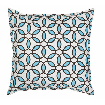 Rings Cotton Canvas Throw Pillow Color: Turquoise