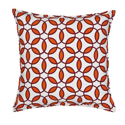 Rings Cotton Canvas Throw Pillow Color: Orange