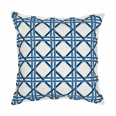Cane Cotton Canvas Throw Pillow Color: Blue