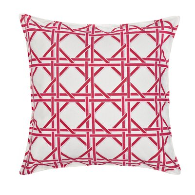 Cane Cotton Canvas Throw Pillow Color: Pink