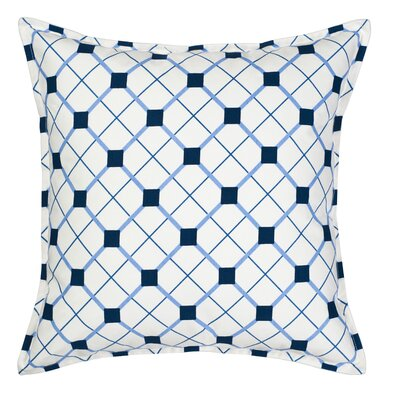 Geo Cotton Canvas Throw Pillow Color: Blue