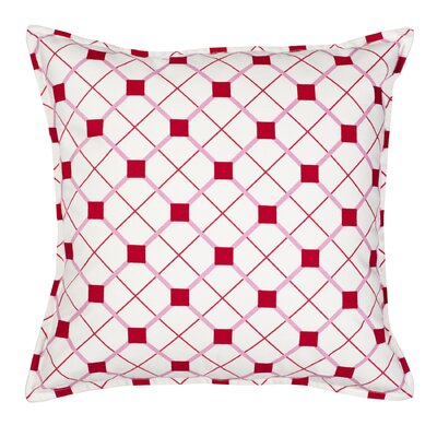 Geo Cotton Canvas Throw Pillow Color: Pink