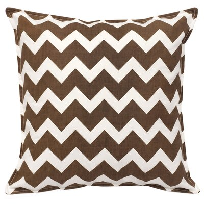 Chevron Cotton Canvas Throw Pillow Color: Brown