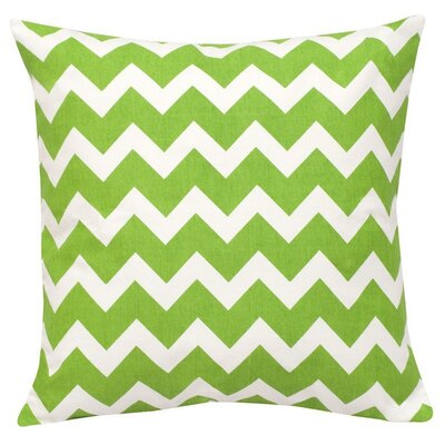 Chevron Cotton Canvas Throw Pillow Color: Green