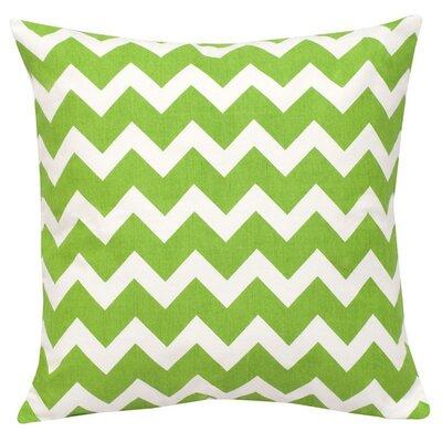 Chevron Cotton Canvas Throw Pillow Color: Green