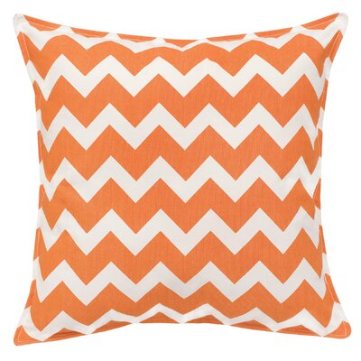 Chevron Cotton Canvas Throw Pillow Color: Orange