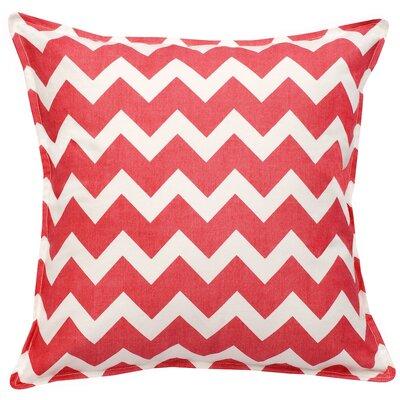 Chevron Cotton Canvas Throw Pillow Color: Pink