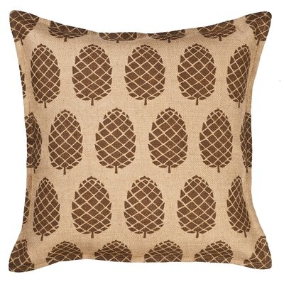 Pinecone Burlap Throw Pillow Color: Brown