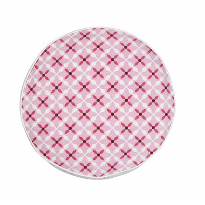 Quatrefoil Cotton Canvas Throw Pillow Color: Pink