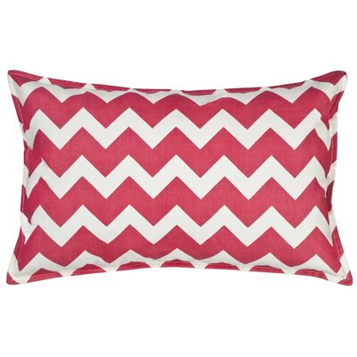 Chevron Cotton Canvas Lumbar Pillow Color: Pink