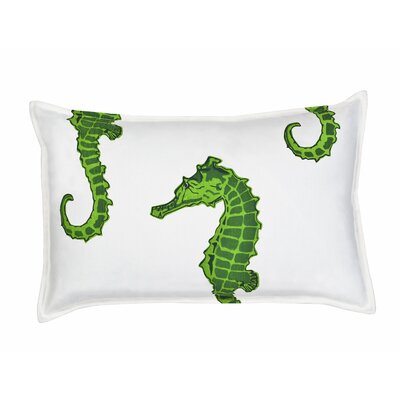 Seahorse Cotton Canvas Lumbar Pillow