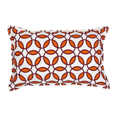 Rings Cotton Canvas Lumbar Pillow Color: Orange
