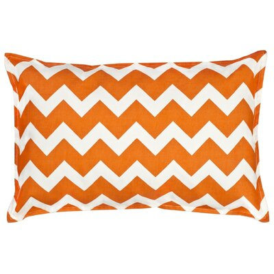 Sandler Cotton Canvas Lumbar Pillow Color: Orange